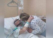 «Me voy a casa, te esperaré» – Le permiten despedirse de su amado esposo en el hospital