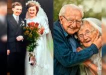Celebran sus 70 años de casados recreando las emotivas fotos de su boda
