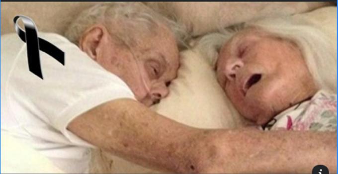 Tras 75 años de casados, partieron al más allá el uno en los brazos del otro..