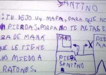 Un niño le escribe una emotiva carta al Ratón Pérez para pedirle que no asuste a su mamá.