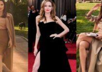 Angelina Jolie en corsé negro deja ver su lado más sexy a sus 46 años